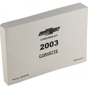 Corvette Owner's Manual 2003 - [Corvette Store Online]