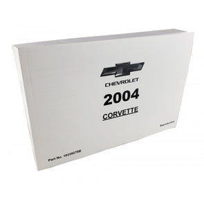 Corvette Owner's Manual 2004 - [Corvette Store Online]