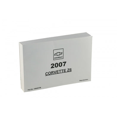 Corvette Owner's Manual 2007 - [Corvette Store Online]