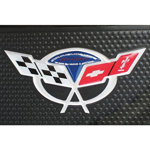 2004 Corvette C5 Commemorative Edition Door Sill Domed 3D Logo Decals - [Corvette Store Online]