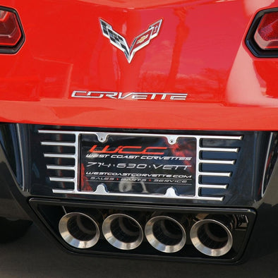 C7/C8 Corvette Stingray Billet Open End License Plate Frame