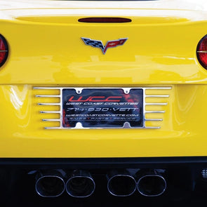 C6 Corvette Billet Open End License Plate Frame