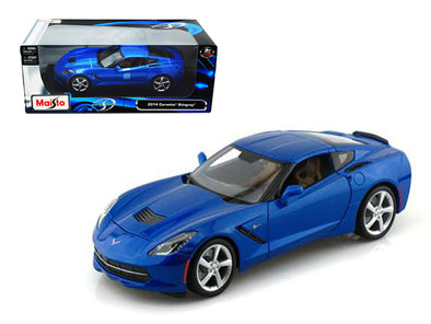 2014 Chevrolet Corvette C7 Stingray Light Blue 1/18 Diecast - [Corvette Store Online]