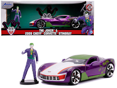 2009 Corvette Stingray Joker Figure DC Comics 1/24 Diecast