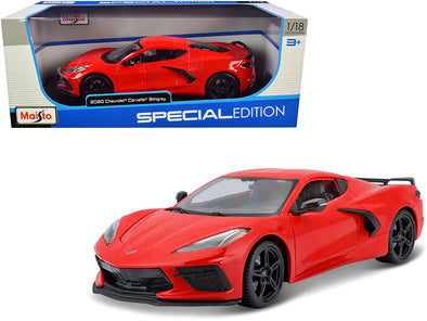 2020 Chevrolet Corvette Stingray C8 Red 1/18 Diecast
