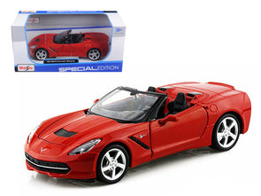 2014 Corvette C7 Convertible Metallic Red 1/24 Diecast