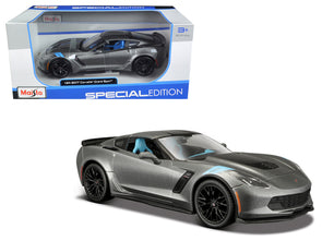 2017 Chevrolet Corvette Grand Sport Metallic Grey 1/24 Diecast - [Corvette Store Online]