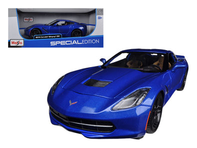 2014 Chevrolet Corvette Stingray C7 Z51 Blue 1/18 Diecast - [Corvette Store Online]