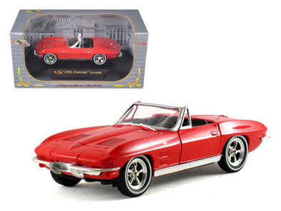 1963 Chevrolet Corvette Convertible Red 1/32 Diecast - [Corvette Store Online]