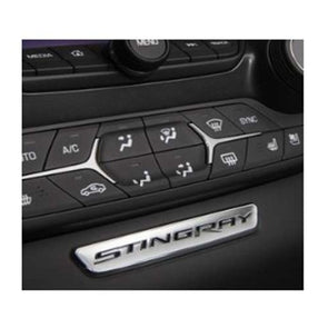 C7 Corvette Stingray Interior Badge | Chrome, 2014-2020 - [Corvette Store Online]