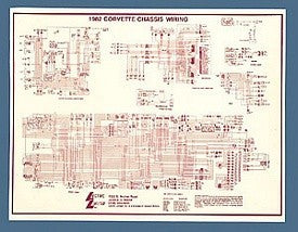 Corvette Wiring Diagram, Laminated, 1955-1982 - [Corvette Store Online]