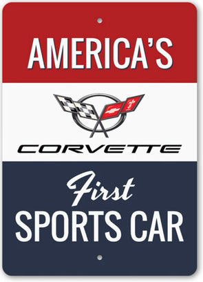 Corvette Americas First Sports Car Sign