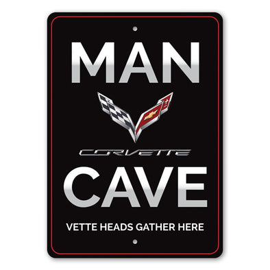 Corvette Man Cave Sign - Aluminum Sign