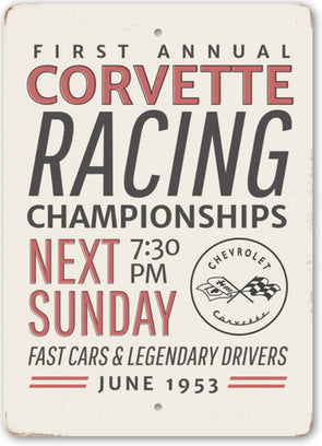 Corvette Racing Championship Car Sign