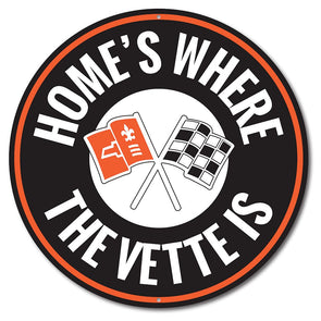 Corvette C2 Home is Where the Vette Is Car Sign