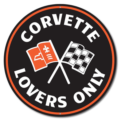 Corvette Lovers Only Car Sign
