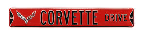 C7 Corvette Drive Red Steel Sign
