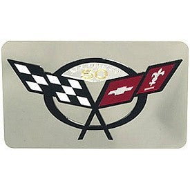 C5 Corvette Exhaust Enhancer Plate | C5 & 50th Anniversary Logo - [Corvette Store Online]