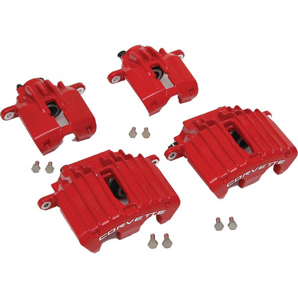 C5 Corvette | Brake Caliper Set | Z06 Style | Red | 1997-2004 - [Corvette Store Online]