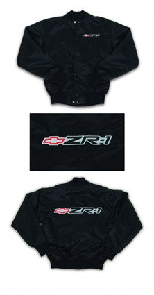 Corvette Satin Jacket, With C4 1990-1995 ZR1 Logo, Black - [Corvette Store Online]