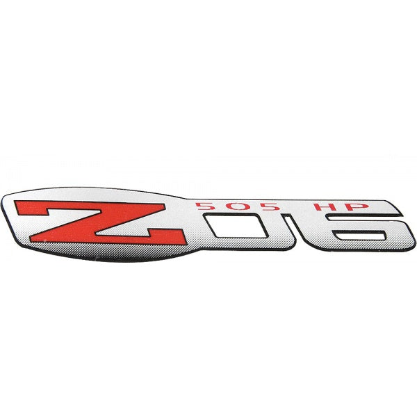 C6/Z06 Corvette | Fender Decal | Z06/505hp Logo | Silver/Red - [Corvette Store Online]