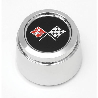Corvette Wheel Center Cap, Chrome, w/ Emblem, Pace Car, 1978 - [Corvette Store Online]