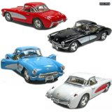 "Set of 4: 5"" 1957 Chevy Corvette 1:34 Scale (Black/Blue/Red/White) - [Corvette Store Online]"