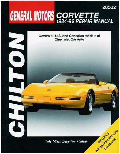 Chilton Chevy Corvette 1984-1996 Repair Manual - [Corvette Store Online]