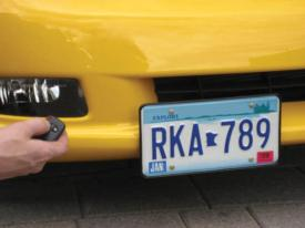 C6 Corvette | Retractable Front License Plate Mount | Remote - [Corvette Store Online]