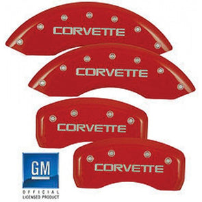 Corvette MGP Red Caliper Covers Set, 1988-1996 - [Corvette Store Online]
