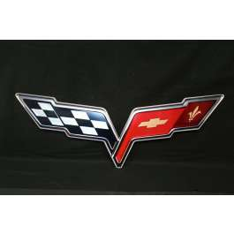 Corvette Metal Sign, 2005-2013 - corvettestoreonline-com