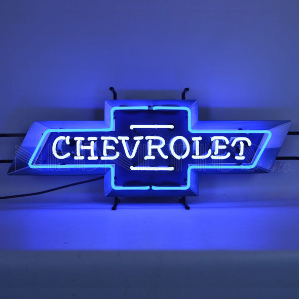 Chevrolet Bowtie Neon Sign With Backing - [Corvette Store Online]