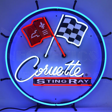C2 Corvette Stingray Neon Sign With Backing - [Corvette Store Online]