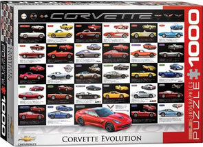 Corvette Evolution 1000-Piece Puzzle - [Corvette Store Online]