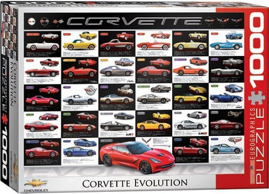 Corvette Evolution 1000-Piece Puzzle - corvettestoreonline-com