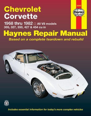 Corvette 1968-1982 Haynes Repair Manual - [Corvette Store Online]