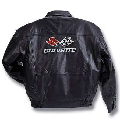 C3 Corvette Leather Bomber - [Corvette Store Online]