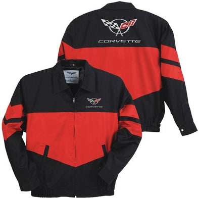 C5 Corvette Twill Jacket - Red/Black - [Corvette Store Online]