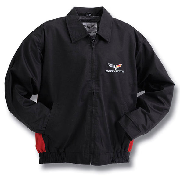 C6 Corvette Twill Jacket with color insert - [Corvette Store Online]