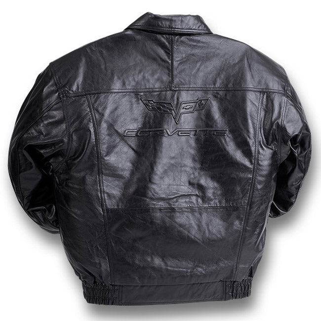 C6 Corvette Lamb Embossed Jacket - [Corvette Store Online]