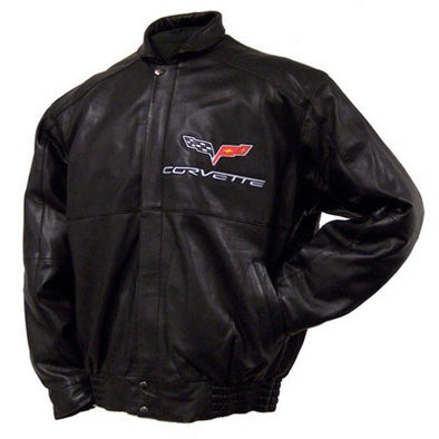 C6 Corvette Lamb Jacket w/ Inlay - [Corvette Store Online]