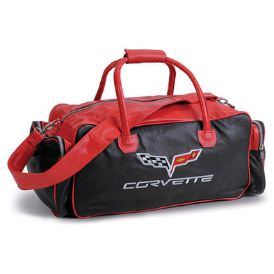 "C6 Corvette Duffle Bag 24"" Black/Red - [Corvette Store Online]"