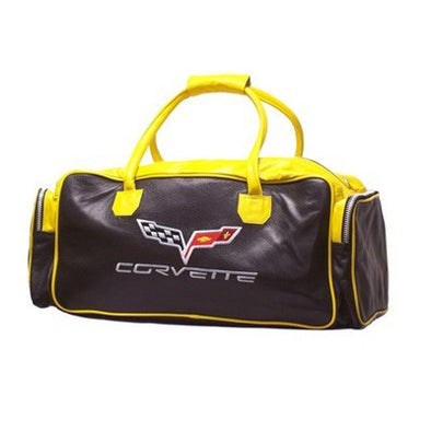 "C6 Corvette Duffle Bag 24"" - Blk/Yellow - [Corvette Store Online]"