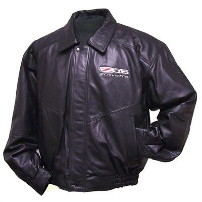 C6-Z06 Corvette Lamb Embroidered Jacket - [Corvette Store Online]