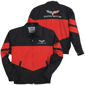 C6 Corvette Twill Jacket in Red/Black - [Corvette Store Online]