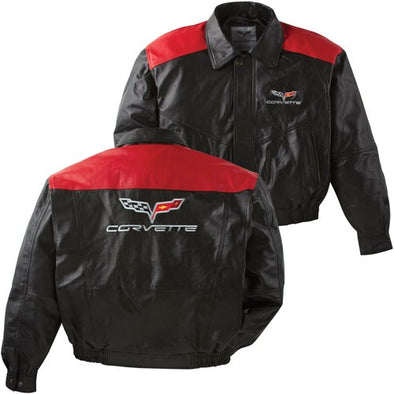 C6 Corvette Color Block Lambskin Jacket - [Corvette Store Online]