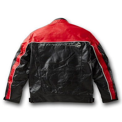 C7 Corvette Black and Red Stingray Inlay Jacket - [Corvette Store Online]