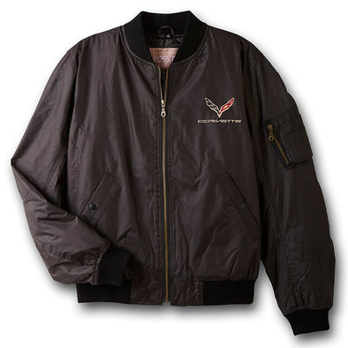C7 Corvette Aviator Twill Jacket - [Corvette Store Online]