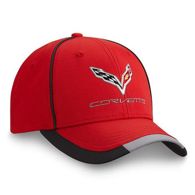 C7 Corvette Red Performance Cap - [Corvette Store Online]