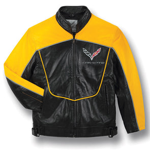 C7 Corvette Leather Racing Jacket - corvettestoreonline-com